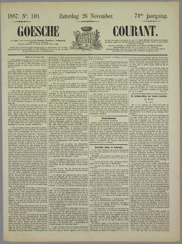 Goessche Courant 1887-11-26