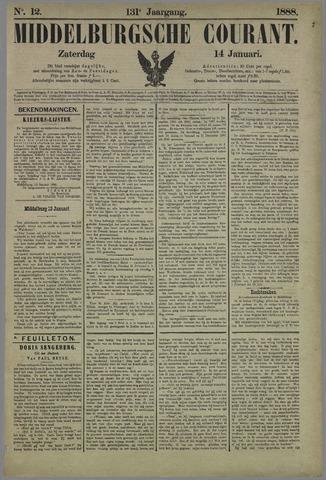 Middelburgsche Courant 1888-01-14