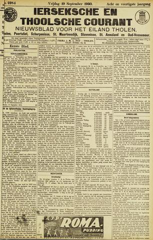 Ierseksche en Thoolsche Courant 1930-09-19