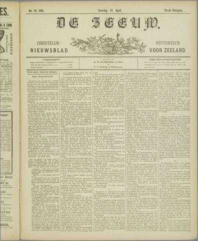 De Zeeuw. Christelijk-historisch nieuwsblad voor Zeeland 1896-04-25