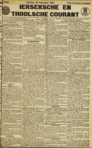 Ierseksche en Thoolsche Courant 1919-09-27
