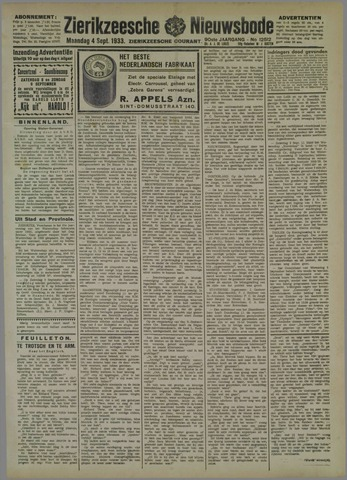 Zierikzeesche Nieuwsbode 1933-09-04