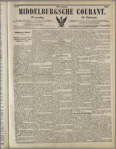 Middelburgsche Courant 1903-02-25