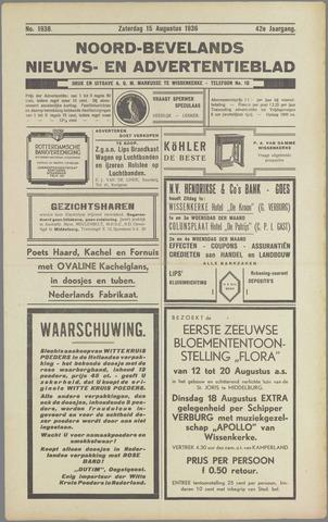 Noord-Bevelands Nieuws- en advertentieblad 1936-08-15