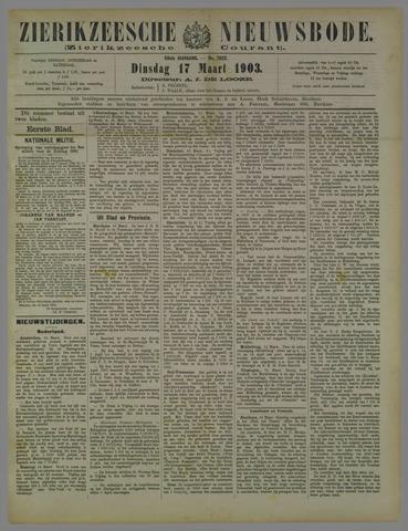 Zierikzeesche Nieuwsbode 1903-03-17
