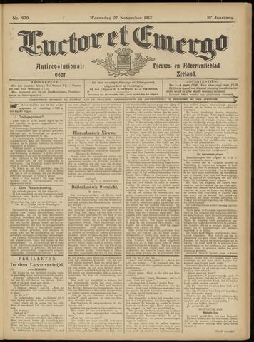 Luctor et Emergo. Antirevolutionair nieuws- en advertentieblad voor Zeeland / Zeeuwsch-Vlaanderen. Orgaan ter verspreiding van de christelijke beginselen in Zeeuwsch-Vlaanderen 1912-11-27