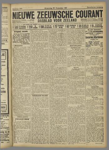 Nieuwe Zeeuwsche Courant 1921-11-30