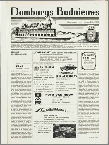 Domburgsch Badnieuws 1975