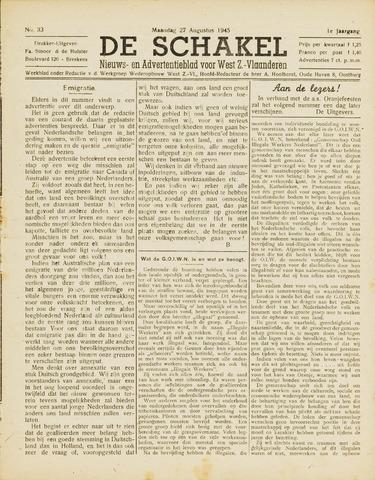 De Schakel 1945-08-27