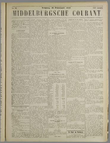 Middelburgsche Courant 1919-02-21