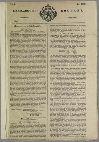 Zierikzeesche Courant 1848