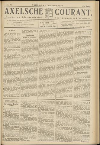 Axelsche Courant 1933-08-04