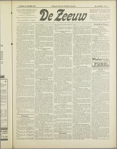 De Zeeuw. Christelijk-historisch nieuwsblad voor Zeeland 1934-11-26