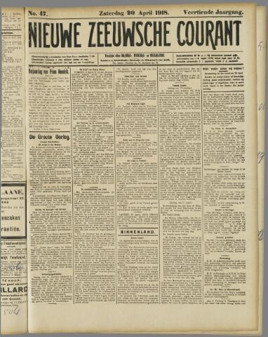 Nieuwe Zeeuwsche Courant 1918-04-20