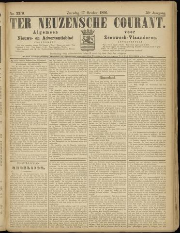 Ter Neuzensche Courant. Algemeen Nieuws- en Advertentieblad voor Zeeuwsch-Vlaanderen / Neuzensche Courant ... (idem) / (Algemeen) nieuws en advertentieblad voor Zeeuwsch-Vlaanderen 1896-10-17