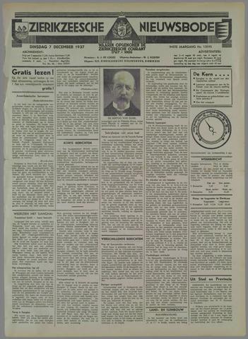 Zierikzeesche Nieuwsbode 1937-12-07