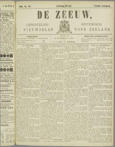 De Zeeuw. Christelijk-historisch nieuwsblad voor Zeeland 1888-06-30
