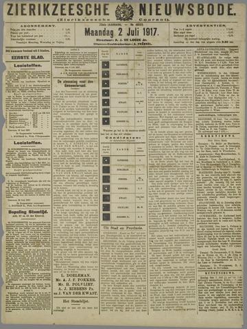 Zierikzeesche Nieuwsbode 1917-07-02