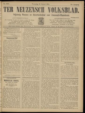 Ter Neuzensch Volksblad. Vrijzinnig nieuws- en advertentieblad voor Zeeuwsch- Vlaanderen / Zeeuwsch Nieuwsblad. Nieuws- en advertentieblad voor Zeeland 1914-01-28