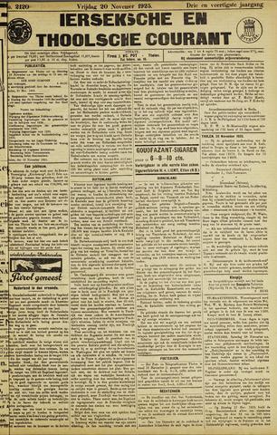 Ierseksche en Thoolsche Courant 1925-11-20