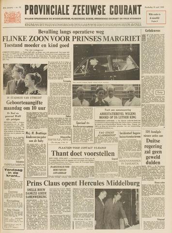 Provinciale Zeeuwse Courant 1968-04-18