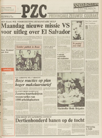 Provinciale Zeeuwse Courant 1981-02-20