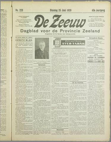 De Zeeuw. Christelijk-historisch nieuwsblad voor Zeeland 1929-06-25
