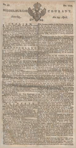 Middelburgsche Courant 1779-04-24