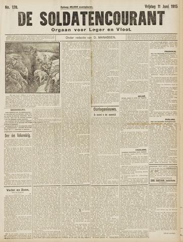 De Soldatencourant. Orgaan voor Leger en Vloot 1915-06-11
