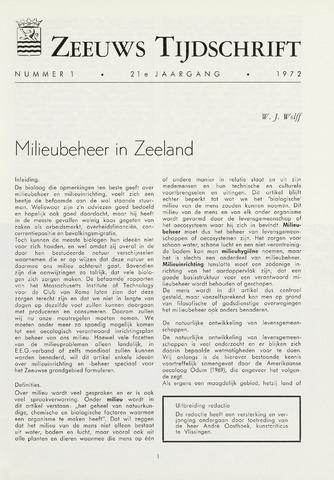 Zeeuws Tijdschrift 1972-01-01