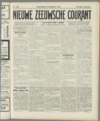 Nieuwe Zeeuwsche Courant 1911-09-21
