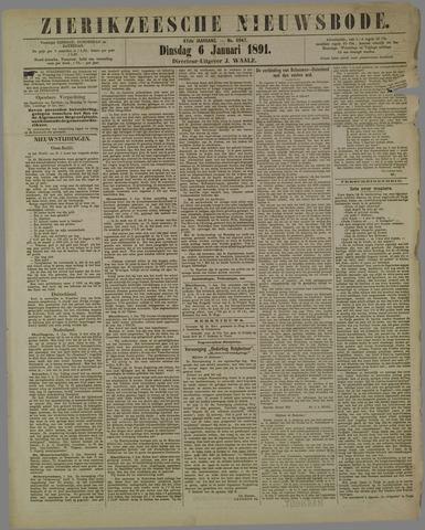 Zierikzeesche Nieuwsbode 1891-01-06