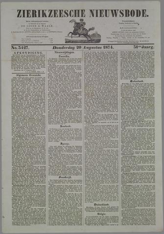 Zierikzeesche Nieuwsbode 1874-08-20