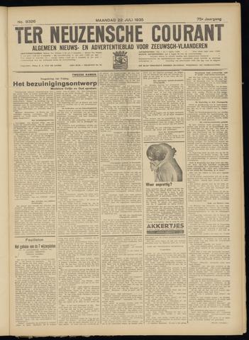 Ter Neuzensche Courant. Algemeen Nieuws- en Advertentieblad voor Zeeuwsch-Vlaanderen / Neuzensche Courant ... (idem) / (Algemeen) nieuws en advertentieblad voor Zeeuwsch-Vlaanderen 1935-07-22