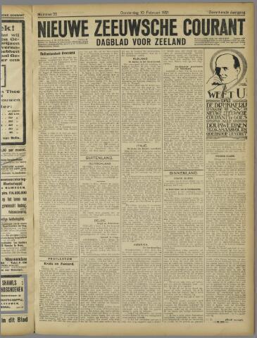 Nieuwe Zeeuwsche Courant 1921-02-10
