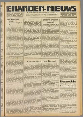 Eilanden-nieuws. Christelijk streekblad op gereformeerde grondslag 1949-02-02