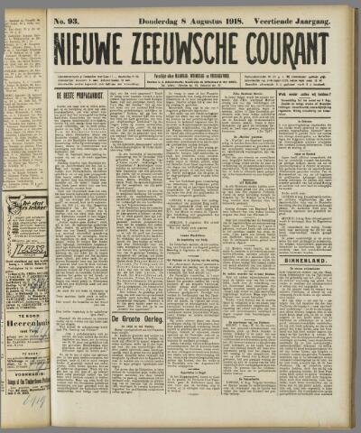 Nieuwe Zeeuwsche Courant 1918-08-08