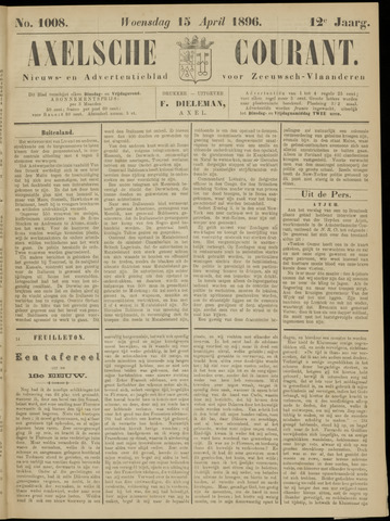 Axelsche Courant 1896-04-15