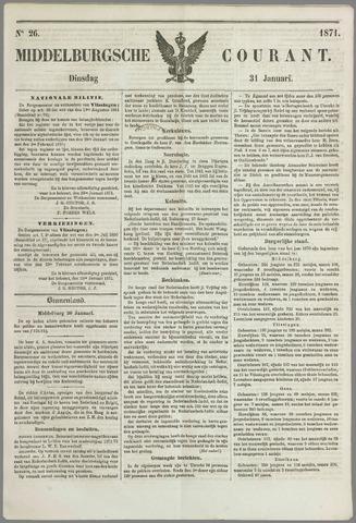 Middelburgsche Courant 1871-01-31