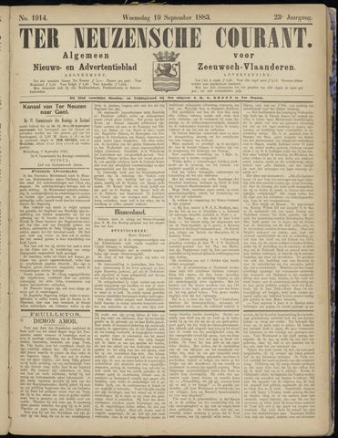 Ter Neuzensche Courant. Algemeen Nieuws- en Advertentieblad voor Zeeuwsch-Vlaanderen / Neuzensche Courant ... (idem) / (Algemeen) nieuws en advertentieblad voor Zeeuwsch-Vlaanderen 1883-09-19