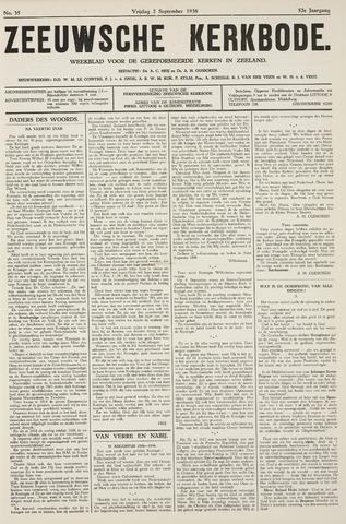 Zeeuwsche kerkbode, weekblad gewijd aan de belangen der gereformeerde kerken/ Zeeuwsch kerkblad 1938-09-02