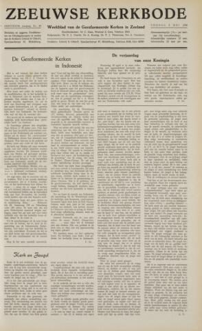 Zeeuwsche kerkbode, weekblad gewijd aan de belangen der gereformeerde kerken/ Zeeuwsch kerkblad 1958-05-02