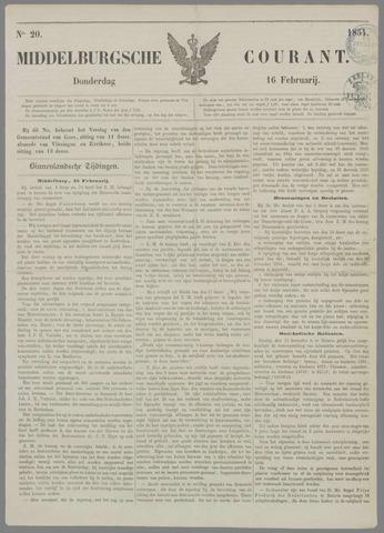 Middelburgsche Courant 1854-02-16