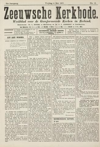 Zeeuwsche kerkbode, weekblad gewijd aan de belangen der gereformeerde kerken/ Zeeuwsch kerkblad 1917-05-04