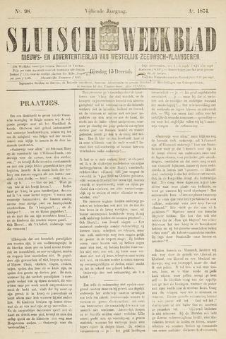 Sluisch Weekblad. Nieuws- en advertentieblad voor Westelijk Zeeuwsch-Vlaanderen 1874-12-15