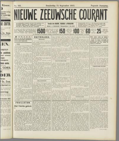 Nieuwe Zeeuwsche Courant 1913-09-25
