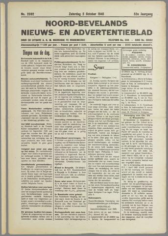 Noord-Bevelands Nieuws- en advertentieblad 1948-10-02
