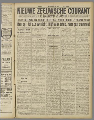 Nieuwe Zeeuwsche Courant 1925-06-27