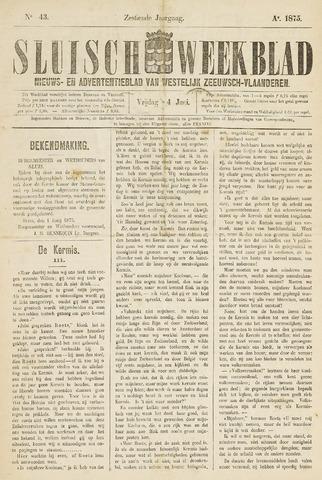 Sluisch Weekblad. Nieuws- en advertentieblad voor Westelijk Zeeuwsch-Vlaanderen 1875-06-04