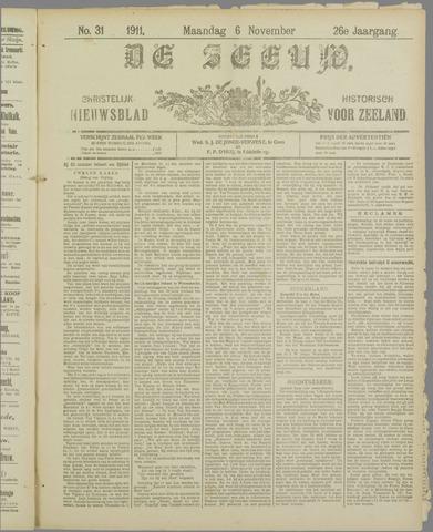 De Zeeuw. Christelijk-historisch nieuwsblad voor Zeeland 1911-11-06